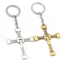 Fast and Furious Keychain Toretto Cross Key Chain Key Ring Holder Pendant Chaveiro Movie Jewelry Souvenir