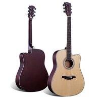 40 41inch Acoustic Folk Guitar Rosewood Fingerboard Guitarra Musical Stringed Instruments 6 Strings Guitars