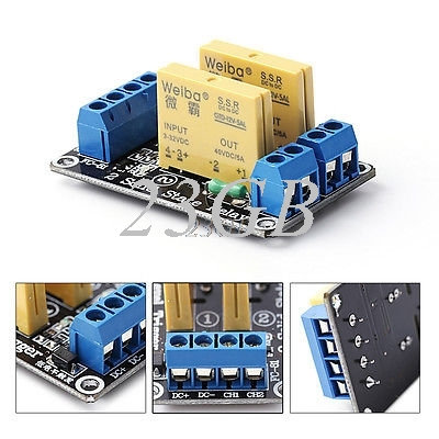 2 Channel SSR Solid State Relay High-low Trigger 5A 3-32V J242 Channel SSR Solid State Relay High-low Trigger 5A 3-32V J24