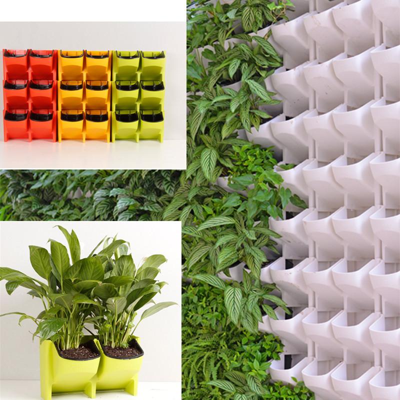 colgante de pared vertical de plstico maceta suculentas maceta para el hogar jardn decoracin de interior
