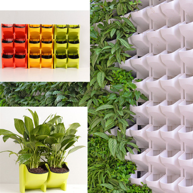 Plastic Wall Hanging Vertical Flower Pot Succulents Planter For Home Garden  Indoors Outdoors Decor Plant Wall