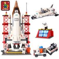 AUSINI 560 Adet Uzay Mekiği Gemi Baz Modeli yapı taşları DIY Eğitici Yaratıcı Modeli Tuğla Oyuncaklar