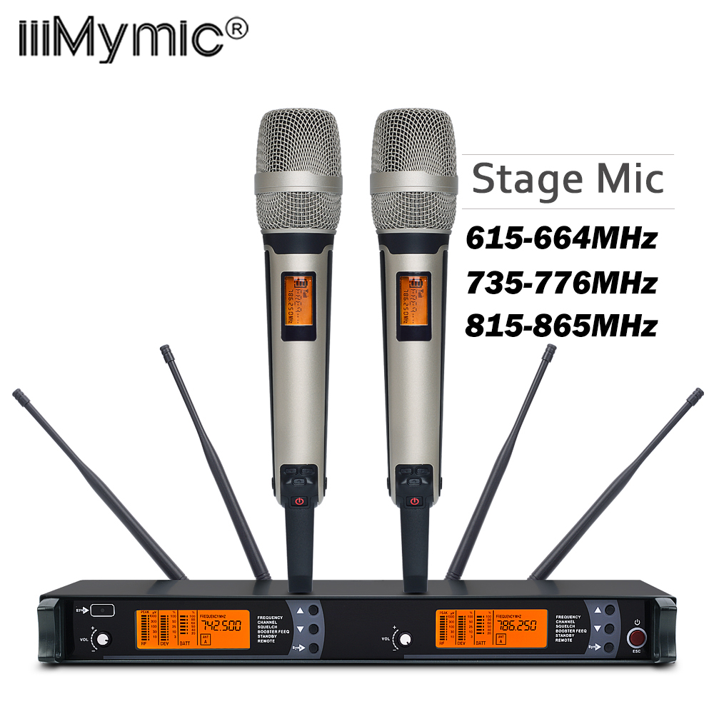 Новое поступление! Высокое качество SM 9000 4 Антенна для сцены! Двойной золотой ручной микрофон Профессиональная Беспроводная микрофонная система