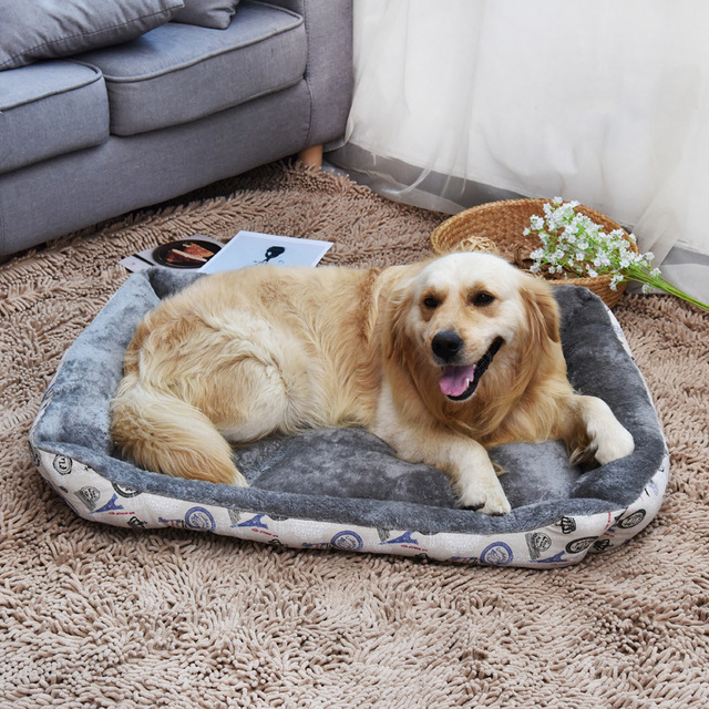 Pet Products Large Dog House Bed Washable Fleece Cat Kennel Pitbull Labrador Sofa Bedding Mat