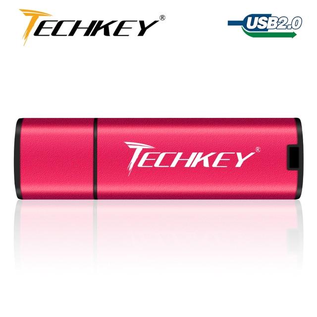 Techkey usb flash drive 32gb pen drive 64gb 16gb 8gb 4gb colorful flash disk cle usb Storage device High-Speed memory stick 3