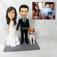 custom polymer clay figurines sculpture kissing couple photo figurine wedding cake topper dollhouse figures miniatures mini doll