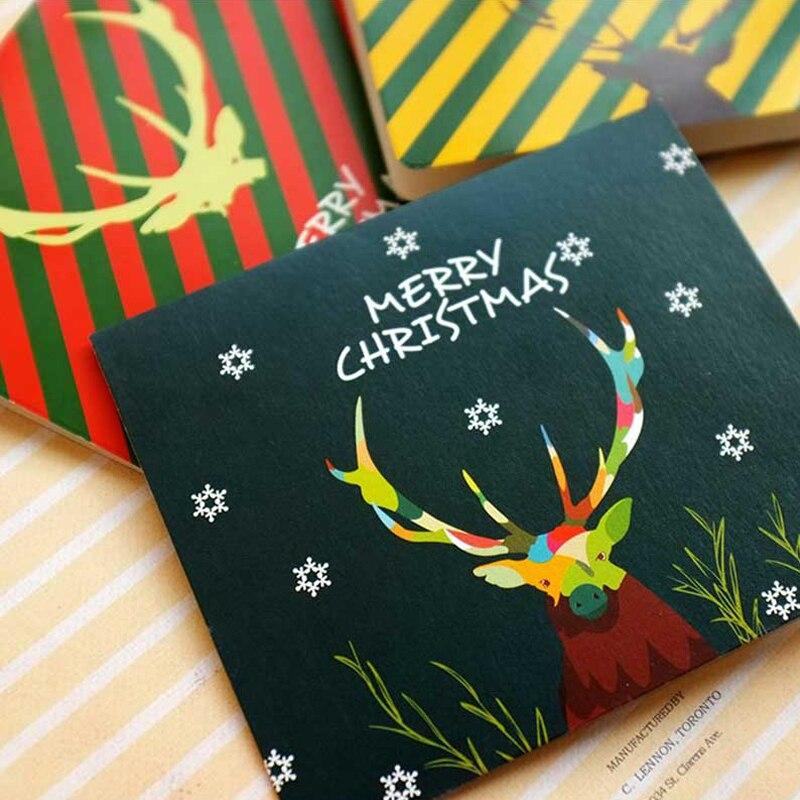 10Pcs/Bag Handmade Sika Deer Antler Christmas Gifts Cards Kids Festival Birthday Greeting Cards Merry Christmas Decoration natural deer velvet antler extract 10 1 1kg bag free shipping by ems