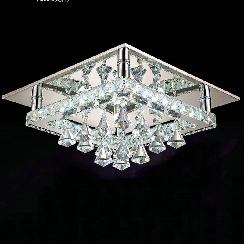 Modern 48w Led Crystal Ceiling Lights Lamp Flush Mount