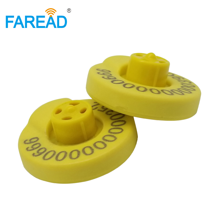 X80pcs Factory Price RFID Ear Tag For Livestock Animal Tracking ISO11784 ISO11785  ICAR Certification 134.2KHz HDX Standard
