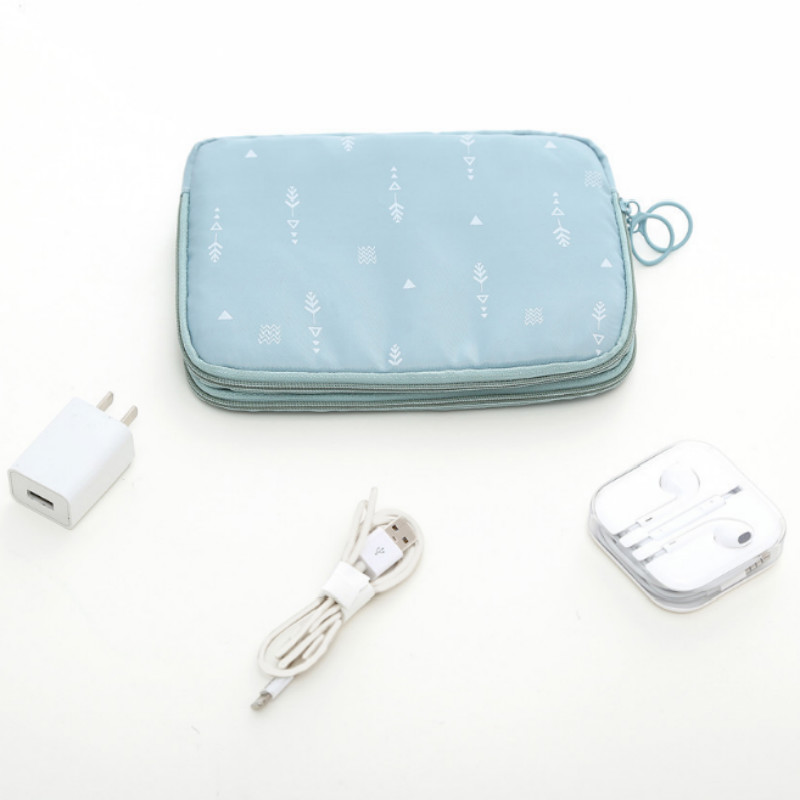 Double Layer Digital USB Cable Data Line Storage Bags Earphone Pouch Portable Outdoor Travel Organizer Storage Bag