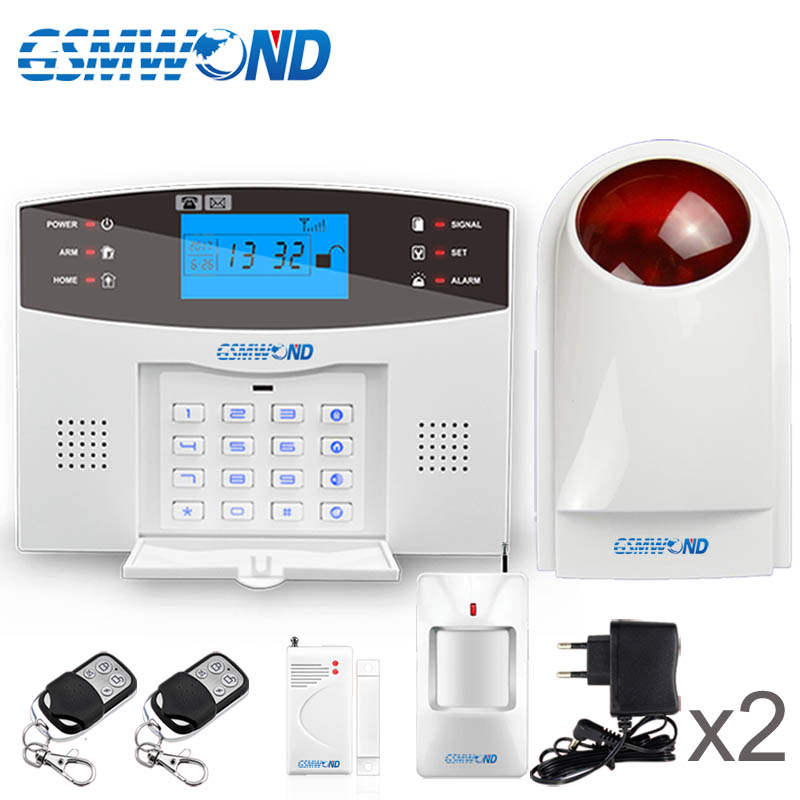 Smart APP Menu LCD Wireless 433MHZ SMS GSM Dual Network Home automation kit Burglar Security Detector