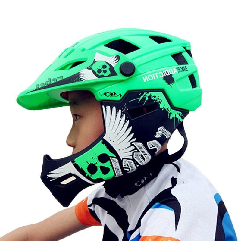 LUNE Cross-Country Enfants Enfants Vélo Casque Amovible Vélo Casque Descente VTT Route de Montagne Casque Avec Chin Protection