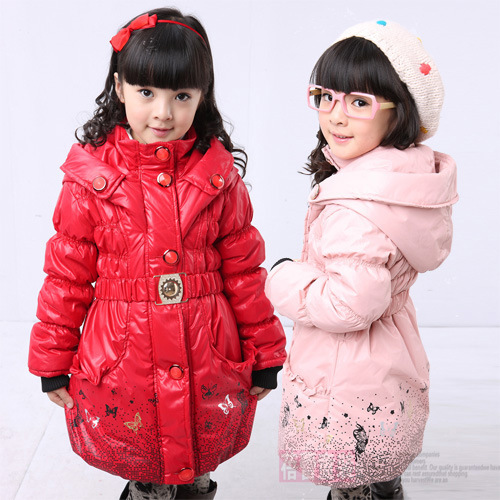 Free shipping New girl warm winter cotton-padded clothes printing belt cotton-padded jacket картридж для лазерного принтера kyocera tk 895m
