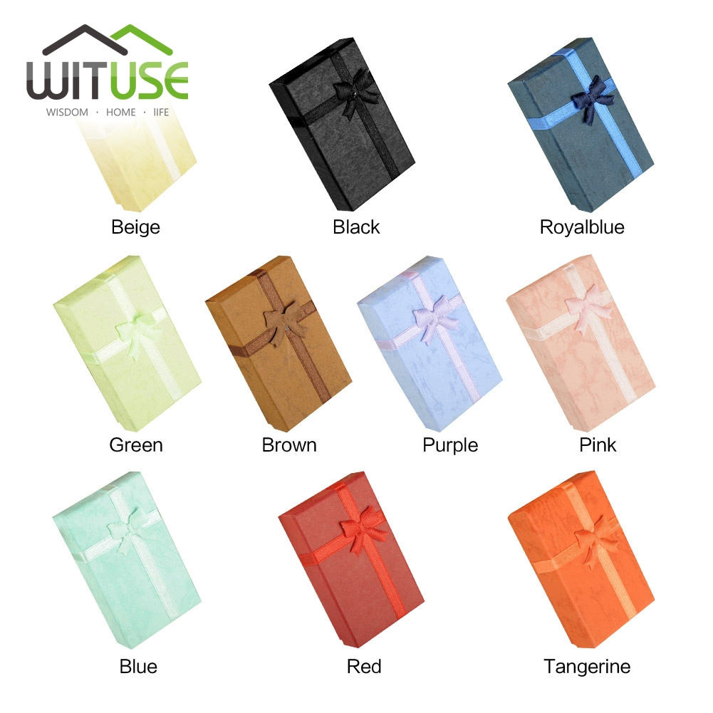 Cheap Sale 10 Colors 8*5*2.5cm Square Paper Gift Box Present Case For Ring Jewelry Bracelet Necklace