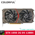Original colorful nvidia geforce gtx 1050 gpu 2 gb gddr5 128bit pci-e x16 de jogos 3.0 placa de vídeo placa de vídeo dvi + hdmi + dp portas