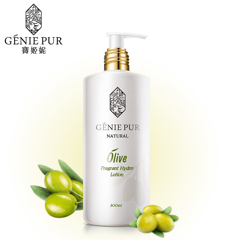 Olive Body Lotion GENIE PUR Body Skin Care Nourishing & Moisturizing Against Skin Aging 300ml For Winter Autumn Skin Complaints logona daily care body lotion organic aloe verbena объем 200 мл
