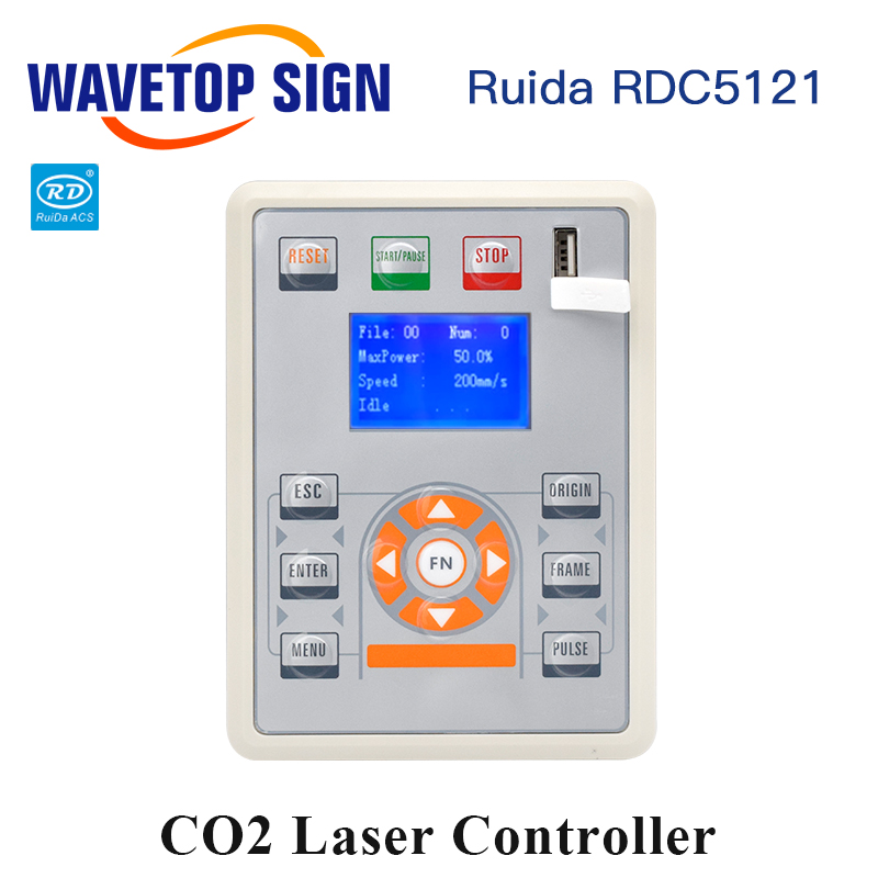 WaveTopSign Ruida RDC5121 Lite Version Co2 Laser DSP Controller for Laser Engraving and Cutting Machine
