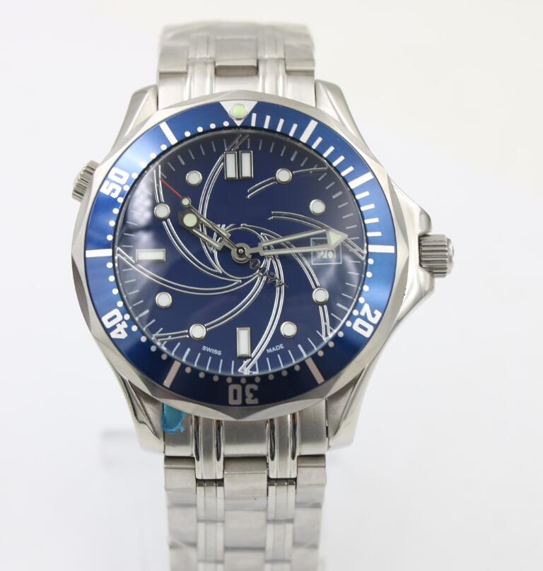 New Sea Blue Automatic Mechanical Men 007 James Bond Memorial Royal Diving Watch Ceramic Bezel Sapphire Limited Watches AAA+(China)