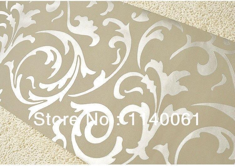 Коричневый цвет золотой фольги дамасской обои Спальня обои покрытия стен