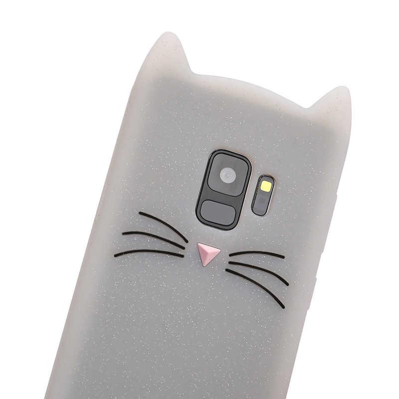Cao cấp Mèo Đáng Yêu dành cho Samsung S8 Galaxy S9 Plus S6 Samsung S7 Edge J3 J5 J7 Pro 2016 2017 ốp Điện Thoại Bao Da