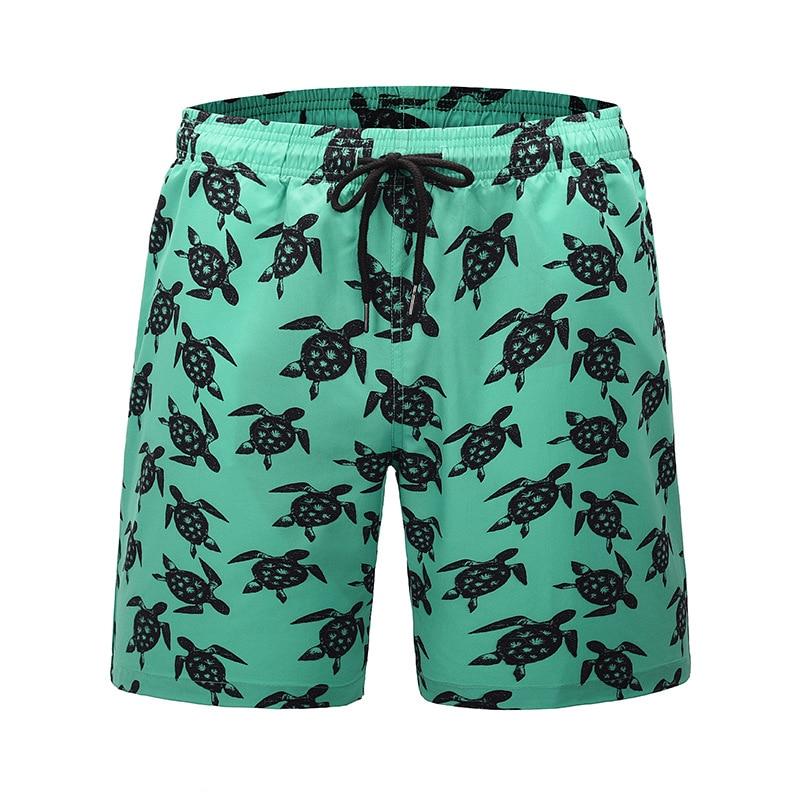 Brand Pocket Quick Dry Turtle Swimming Shorts For Men Swimwear Man Swimsuit Swim Trunks Summer Bathing Beach Wear Surf Boxer
