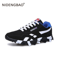 Spring Autumn Unisex Running Shoes For Outdoor Comfortable Thicker Lace-up Trainer Sneakers Winter Men Sport