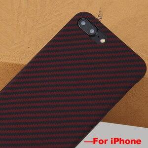 Image 5 - Ultra Sottile Variopinta Caso In Fibra di Aramide per iPhone X Della Copertura Opaca di Gomma Modello In Fibra di Carbonio per il iPhone 7 8 7 più di 8 Più Il Caso di