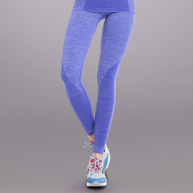 Сексуальная Push up леггинсы Для женщин Gymming Высокая Талия быстрый сухой Бодибилдинг тренировки спортивных работает тонкий Фитнес yogaing Костюмы одеть - Цвет: Синий