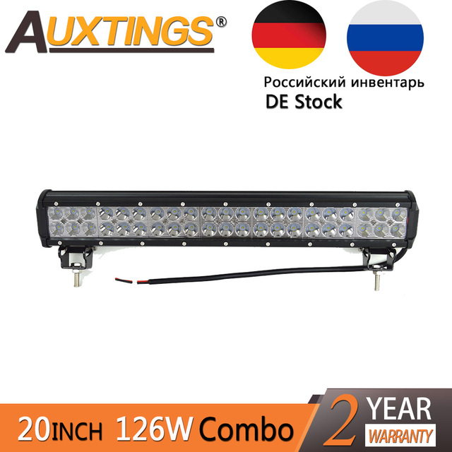 Auxtings 20inch 126w double rows movable bracket ip67 waterproof led auxtings 20inch 126w double rows movable bracket ip67 waterproof led light bar 4x4 offroad aloadofball Image collections