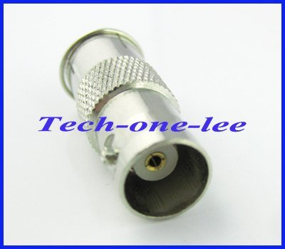 1pcs BNC to F adapter BNC female to Quick F male connector adapter straight nickelplated free shipping