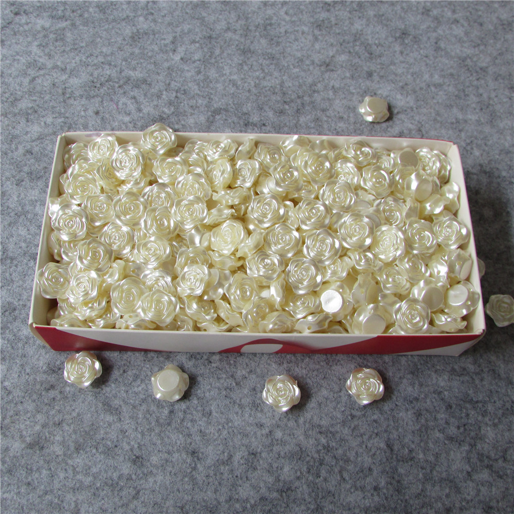 mobile phone hairdressing essential shape straight hole pearl DIY Chinese rose originality handwork accessories 50g