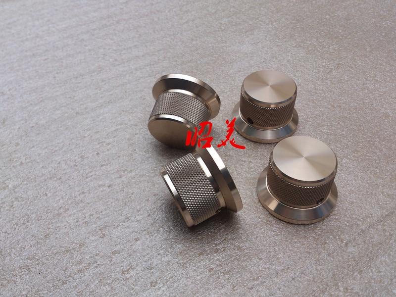 1pcs Diameter: 38mm Shank Diameter: 30mm Height: 25mm Full Aluminum Knobs Audio Amplifier Potentiometer Knob Solid Volume Knob