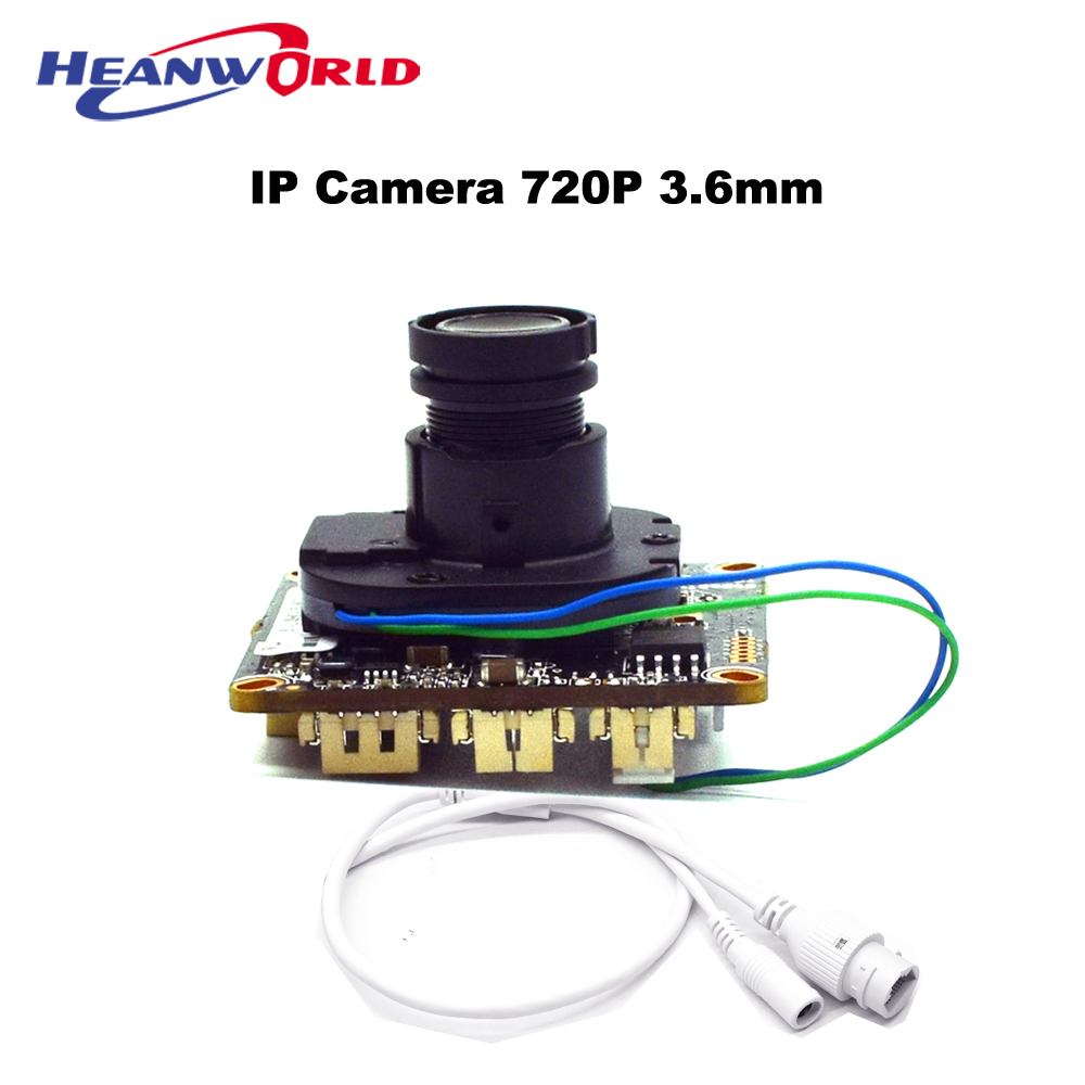 HD 1MP 1280*720P Security Surveillance CCTV IP Camera ONVIF Module Network Cam Chip P2P IR Cut Filter Lens 3.6mm IPC Board brand new dmd chip 1280 6038b 1280 6039b 1280 6138b 6139b 6338b