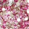 1440 PCS SS4 1.5-1.6mm Red Flat voltar 4SS Rose Glitter Não Hotfix Glue Fixa Cor Das Unhas Vermelho Art Natator Pedrinhas