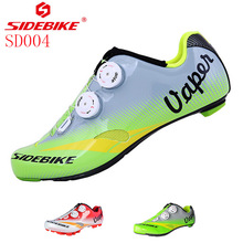 SIDEBIKE Cycling Shoes Mountain SIDEBIK Men Breathable Athletic Road Bike Shoes Bicycle Shoes Road Racing MTB Shoe