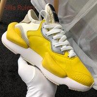 Silla правители Роскошные новое поступление папа обуви желтый черный, Белый Цвет Толстая подошва Лидер продаж уличная Лидер продаж Модные Пов