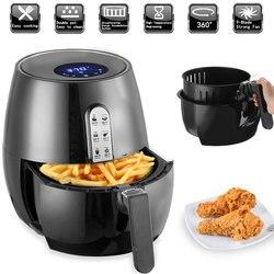 1400W Electric Deep Fryer Air Fryer Digital LED Touch Screen Timer Temperature Control Power Air Fryer Eletric