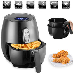 1400W Elektrische Friteuse Air Friteuse Digital LED Touch Screen Timer Temperatur Control Power Air Friteuse Eletric