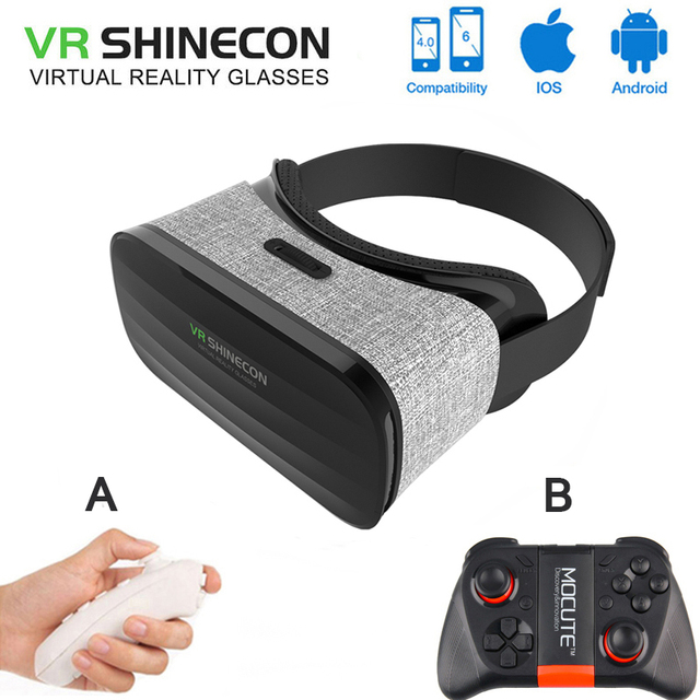 """Original VR Shinecon Y005 3D Glasses virtual reality gafas goggles google cardboard VR Headset for iPhone 4.3""""~6.0"""" Smartphone"""