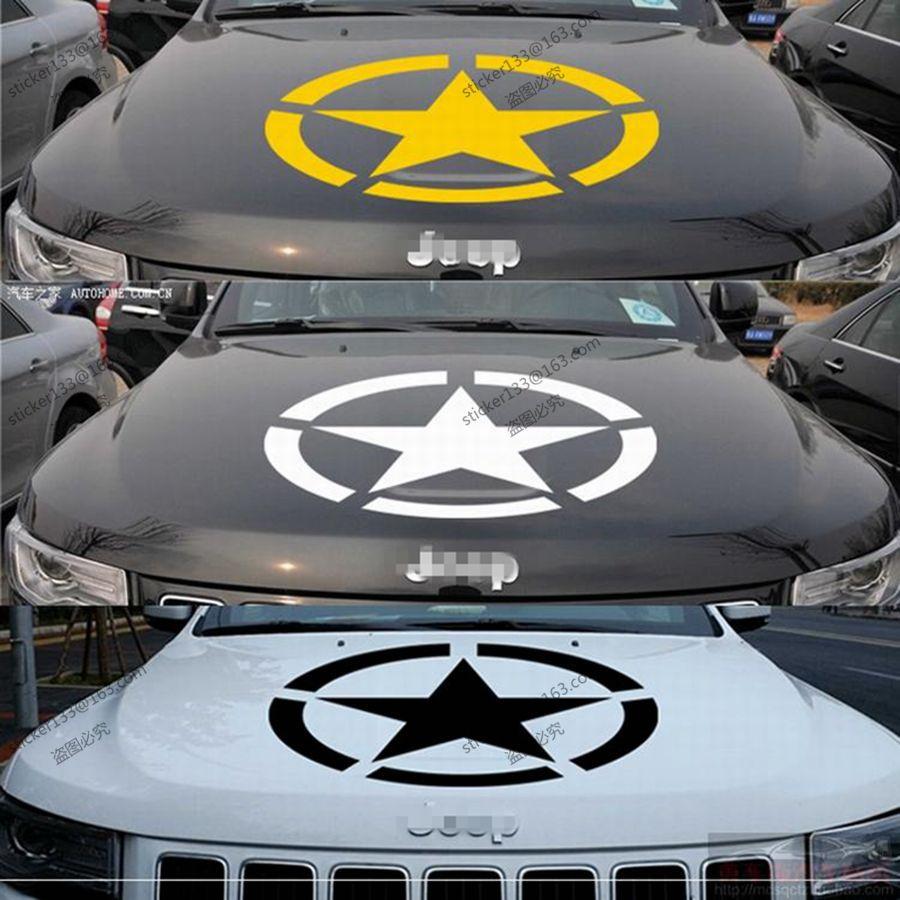 Car bumper sticker designs - 50cm 55cm Us Army Star Vinyl Car Decal Bumper Sticker Ww2 Willys Military For Jeep