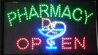 2017 hot sale led screen display 15.5x27.5 inch indoor cartel luminoso pharmacy flashing led open sign board