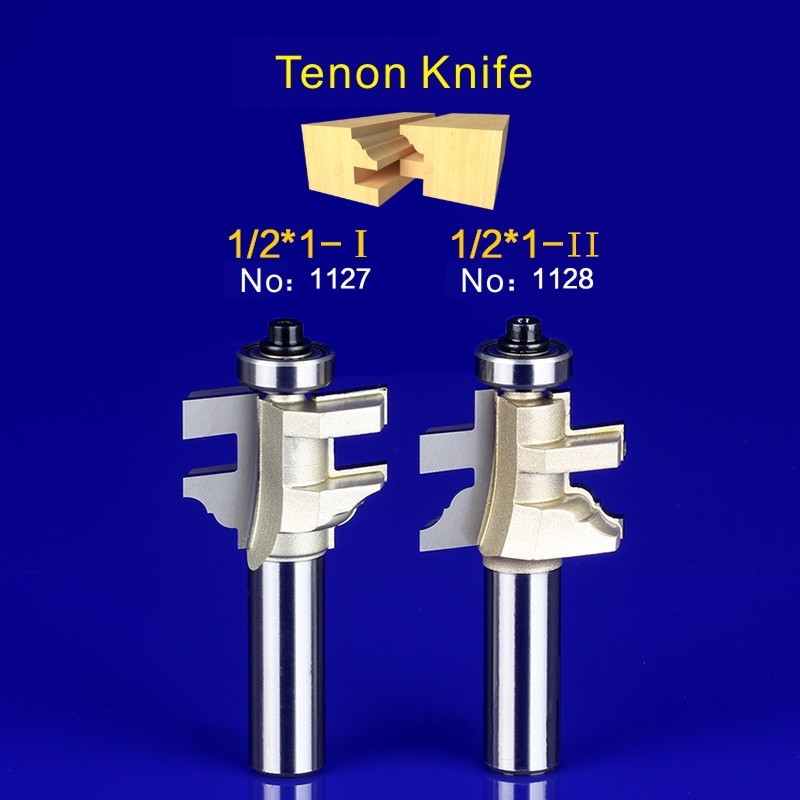 2Pcs Tongue & Groove Router Bit Set 1/2 Inch Shank tenon knife woodworking  1127-1128 2pcs tongue