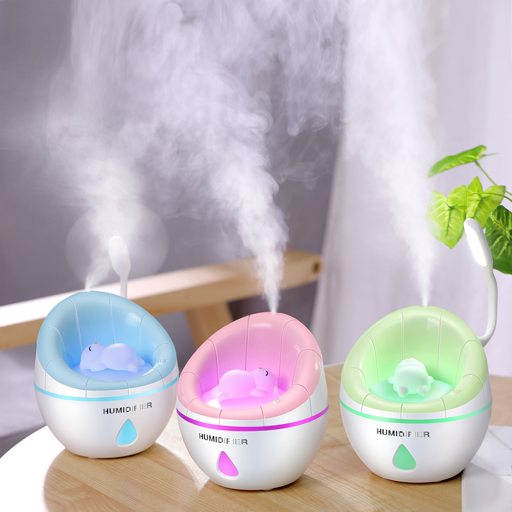 Portable 350ml Ultrasonic LED Night Light Sofa Aroma USB Charging Humidifier Air Essential Oil Aroma Diffuser Purifier Atomizer