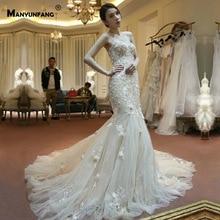 Vestidos Novia 2019 3D Flowers Strapless Wedding Dress Sexy Trumpet Reception  Dress Mermaid Wedding Dress For 53cce1f3a610
