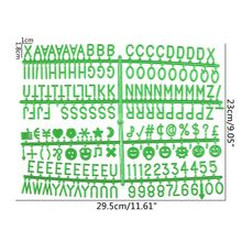 Board Felt Letter Green-Characters Changeable for 340piece Multicolor Numbers