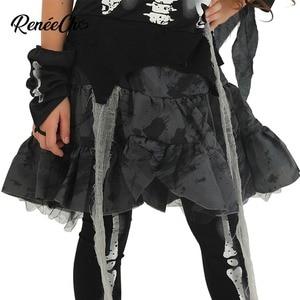 Image 5 - Trajes de halloween para crianças vestidos de fantasia meninas esqueleto traje da noiva criança ossos traje menina fantasma preto vampiro cosplay