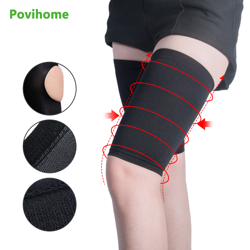 2Pair Hot Sale Fashion Women Thin Thigh Leg Shaper Burn Fat Socks Compression Stovepipe Leg Slimming