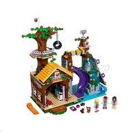 BELA 10497 Building Bricks Friends Series Adventure Camp Tree House 41122 Emma Mia Figure Educational Toys