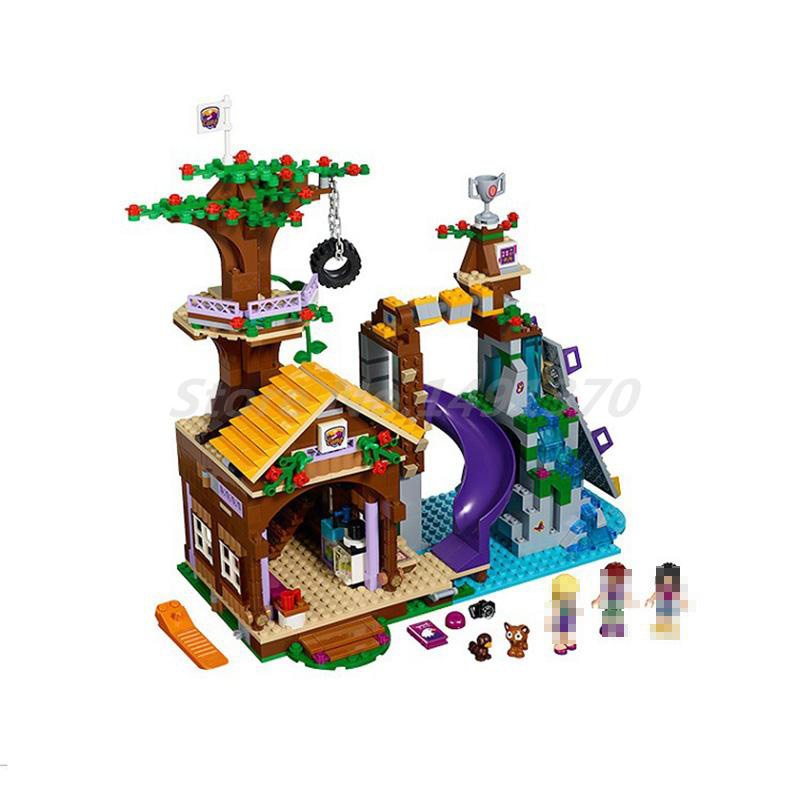 BELA 10497 Building Bricks Friends Series Adventure Camp Tree House 41122 Emma Mia Figure Educational Toys For Children Gifts стоимость
