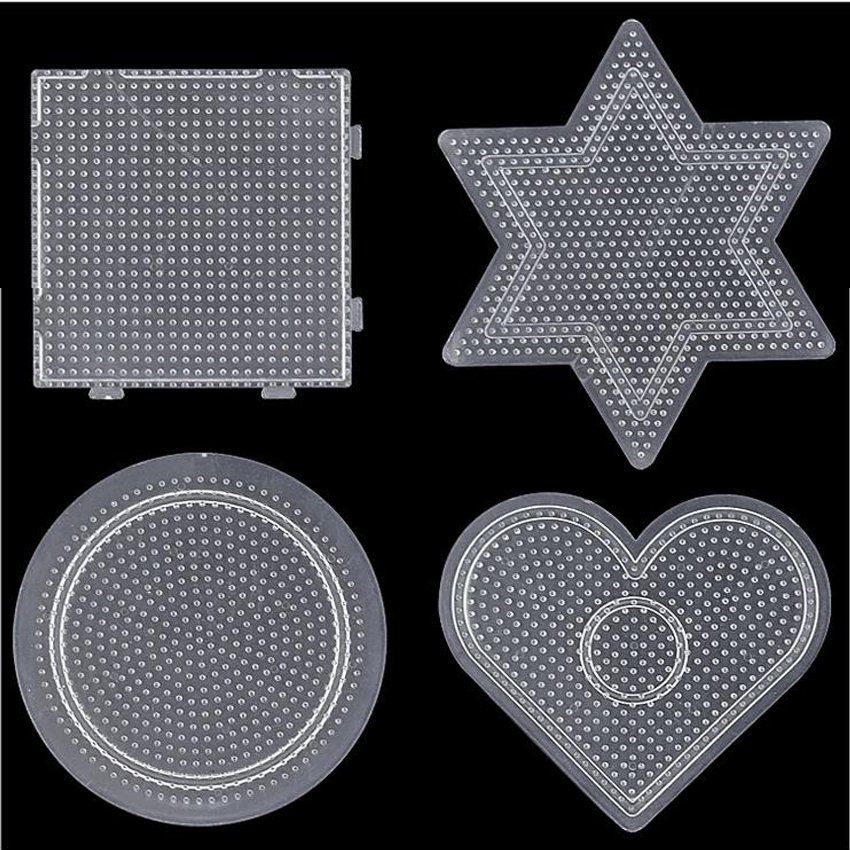 DOLLRYGA 2.6mm Hama Beads Pegboard Template Board Tool Circular Square Educational DIY Figure Material Board Perler Beads Lote